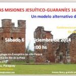 """René Krüger, conferencia: """"las misiones jesuítico-guaraníes, 1609-1767. Un modelo alternativo de misión"""". Iglesia Evangélica del Río de la Plata. Av. Fundadores 1712, Hohenau, Paraguay."""